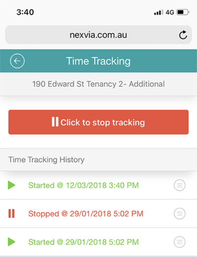 Orbis Pro – Time tracking screenshot on iPhone
